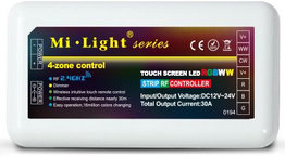 MiLight LED strip RGB+CCT (RGB+ 2700K-6500K) 4 zone controller