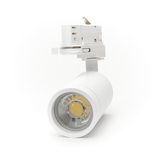 LED Spot Armatuur voor 3-fase Rail Verlichting 4-aderig Wit [Ultra] Model A voorkant