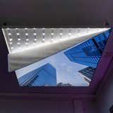 Bloemenplafond | Foto op Canvas Textiel Frame LED verlichting |120x120 of 124x124|[IMG18]_