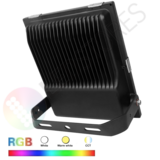 LED Breedstraler 50W RGB+CCT IP65 Zwart_