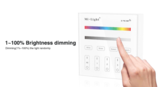 MILIGHT 4 zone Touch Panel RGB/RGBW wandbediening WIT