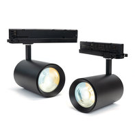 LED Spot voor 3-fase Rail Verlichting 4-aderig Dual Wit 35W Zwart [2 Pack] [Ultra]