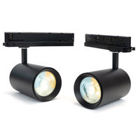 LED Spot voor 3-fase Rail Verlichting 4-aderig Dual Wit 45W Zwart [2 Pack] [Ultra]