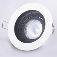 LED GU10 Armatuur Zwart-Wit Verzonken Rond IP20 Incl. Fitting
