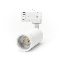 LED Spot Armatuur voor 3-fase Rail Verlichting 4-aderig Wit Model A