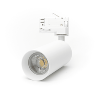LED Spot Armatuur voor 3-fase Rail Verlichting 4-aderig Wit Model B