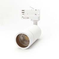 LED Spot Armatuur voor 3-fase Rail Verlichting 4-aderig Wit Model C
