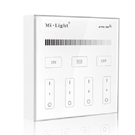 Mi-Light Batt. Wandbediening Dual Wit 4 Zone