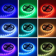 LED Strip 5m 12V RGB Losse Strip IP20 60 LEDs/m