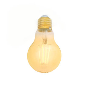 E27 LED Filament Lamp 2200K 5W Dimbaar A60 Amber