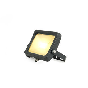 LED Breedstraler 10W 3000K Warm Wit IP65 Zwart