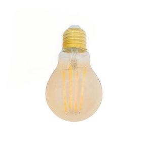 LED Filament Lamp E27 2200K 8W Dimbaar A60 Amber