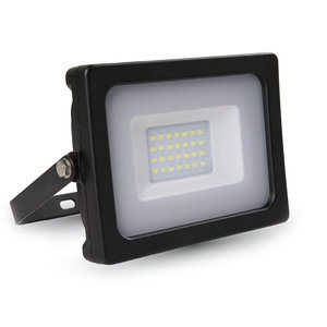 LED Breedstraler 30W 6000K Koud Wit IP65 Zwart