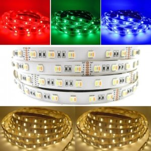 5 meter RGBW 84 LEDS led strip (RGB + Warm Wit)  [24V IP20] - losse strip